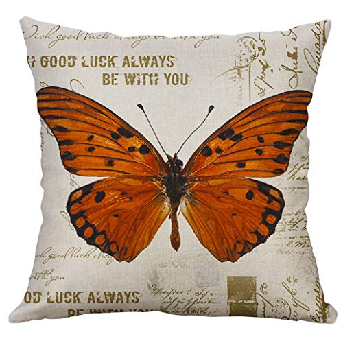 (Easter Pillow Case,Star_wuvi Creative Dragonfly Printed Square Car Sofa Cushion Cover Home Decoration Waist Throw Pillows Cover Linen Blend Pillowcase Pillow Slip 18x18 Inches,45x45 cm)