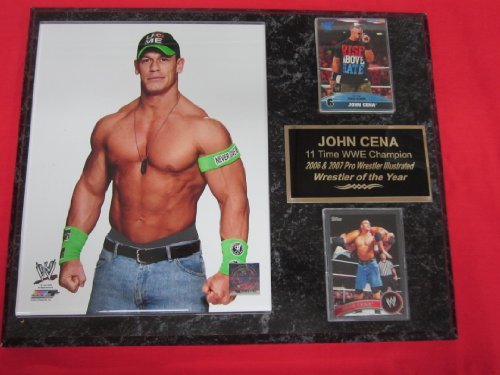 John Cena 2014 WWE 2 Card Collector Plaque #3 w/8x10 NEW Photo