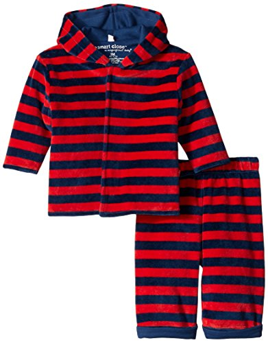 (Magnificent Baby Baby-Boys Velour Hoody and Pant, Red/Navy, 24 Months)