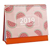 ANJUY Fruit Pattern Calendars,July 2018 - December 2019,Small Desk Calendars for School Office Supplies,Watermelon,Pack of 2