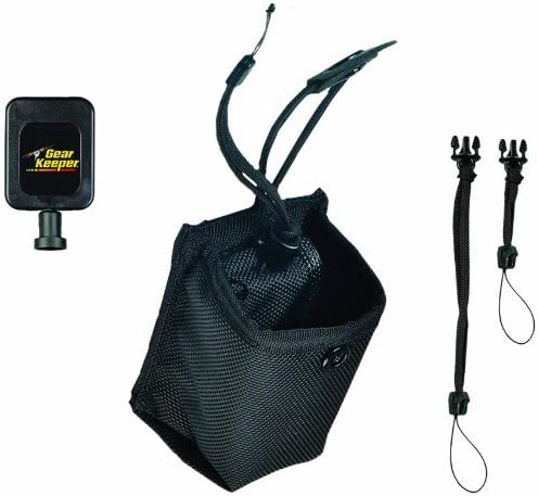 Gear Keeper HR9-2041 Small Retractable Holster for Dog Training Transmitters Cameras Belt and Strap Mount with 2 QC Lanyard Accessories