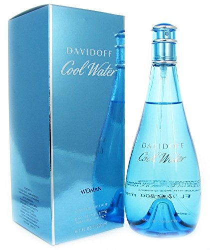 [Cool Water By Davidoff For Women Edt Spray Parfum perfume 6.7 oz / 200 ml] (45 Coffee Wave Art)