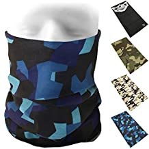 CampTeck Breathable Multi-Purpose Seamless Bandana Camo Skull Print Tube Face Mask Balaclava Headband for Motorcycling, Hiking, Riding, Cycling and other Outdoor Use