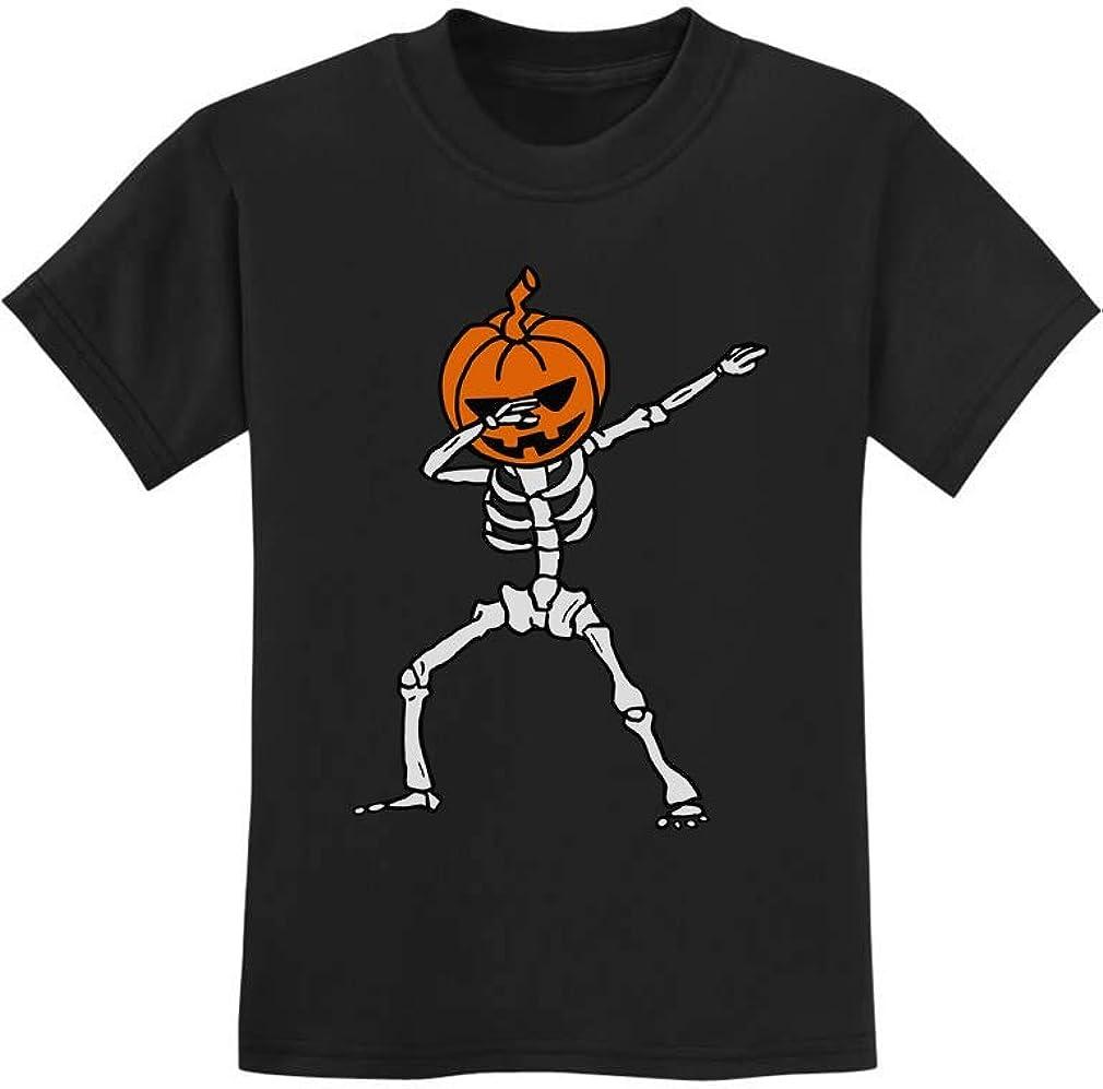 Halloween Dab Jack O Lantern Dabbing Pumpkin Skeleton Youth Kids T-Shirt