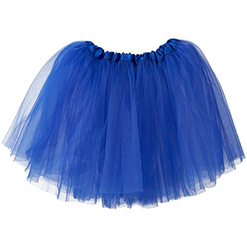 My Lello Little Girls Tutu 3-Layer Ballerina Royal Blue (10 mo - 3T)]()