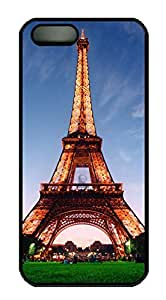 Armener Black Sides Hard Shell Skin Protector Cover for iPhone 5 5S With Eiffel Tower-2