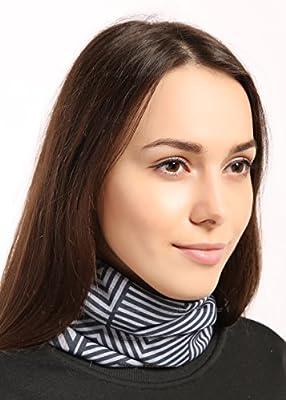Fleece Neck Warmer [Prints] - Reversible Neck Gaiter Tube, Ear Warmer Headband, Mask & Beanie. Ultimate Thermal Retention, Versatility & Style. Constructed with Performance Comfort Fleece & Microfiber