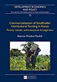 Commercialization of Smallholder Horticultural Farming in Kenya: Poverty, Gender, and Institutional Arrangements (Development Economics and Policy)