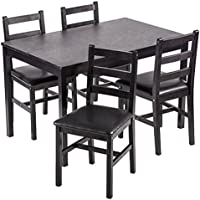 Dining Table Set, 5 Pieces Kitchen Dining Table With 4...