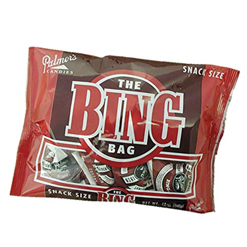 Palmers Twin Bing Candy Bar Snack Size Bag - (1-Pack: Offered In Multiple Size Variations) - Chocolate Covered Cherry Nougat Candy Bars