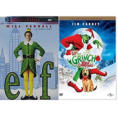 Elf & Dr. Seuss' How the Grinch Stole Christmas - Holiday Double Feature DVD Movie