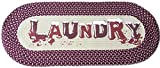 laundry room design Homecricket - Burgundy Vintage Laundry Room Decorative Braided Area Runner - Rug - Floor Mat - (Laundry Room Decor- Laundry Room Ideas Designs)