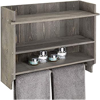 Amazon.com: MyGift Wall-Mounted Rustic Gray Wood 3-Tier ...