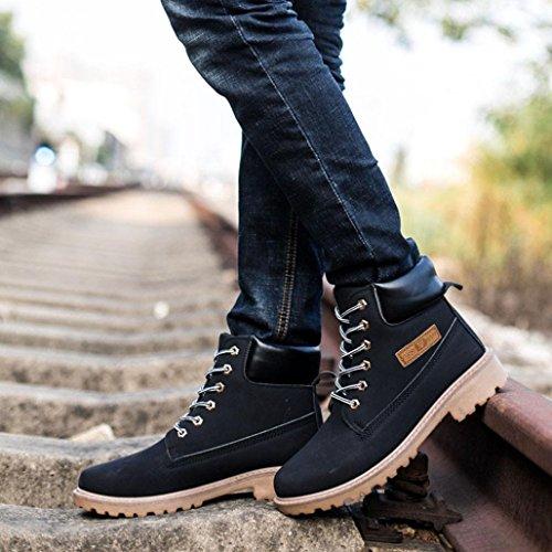 Landfox Los Zapatos Botas Hombres Piel Martin De Tobillo Yq6X6B7