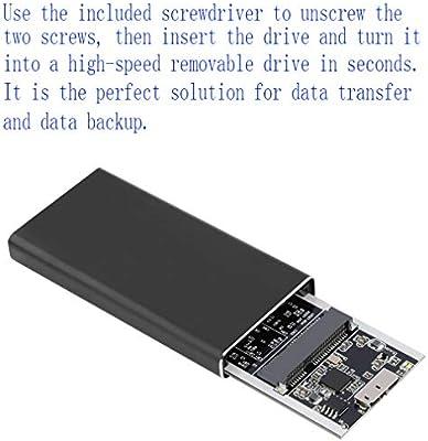 FSM88 Disco Duro Externo, USB3.0 Mobile Hard Disk Box Portátil M.2 ...