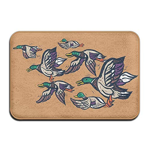 - Custom Male Mallard Ducks Doormat - Floor Mat Indoor Entrance Rug Decor Mat, 23.6