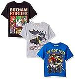 DC Comics Boys' Big Batman Lego 3 Pack Tee's, Grey, Blue, Black, 10/12