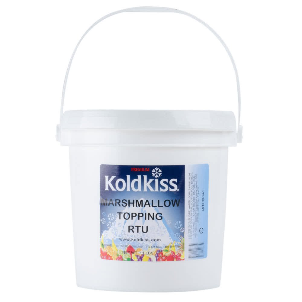 TableTop King Koldkiss Marshmallow 11 lb. Ready to Use Snowball Topping - 2/Case