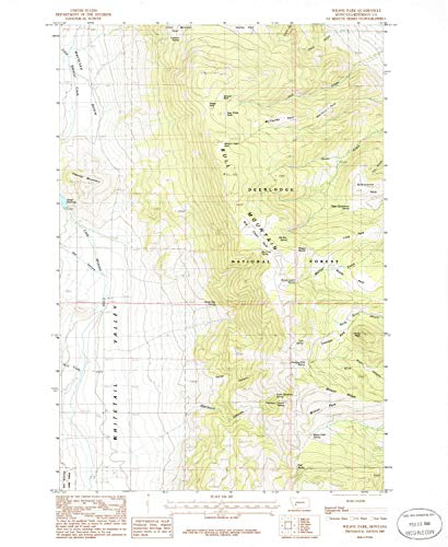 Wilson Park MT topo map, 1:24000 Scale, 7.5 X 7.5 Minute, Historical, 1985, Updated 1986, 26.8 x 22 in - Tyvek