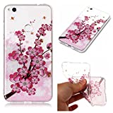 Aipyy Huawei P8 Lite 2017 Case,Transparent Pattern Soft TPU material back cover case for Huawei P8 Lite 2017/Honor 8 Lite 5.2 inch-Plum blossom
