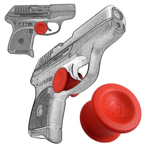 1 Pack Ruger LCP 380 Quick Release Concealed Carry Micro Holster Trigger Stop by Garrison Grip (Red)