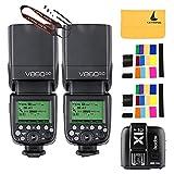 Godox V860II-C Pioneering 2.4G Wireless E-TTL II Li-on 2PCS Camera Flash Speedlite for Canon 6D 50D 60D 1DX 580EX II 5D Mark II III+X1C TTL Wireless Transmitter for Canon EOS series cameras (X1C-T)