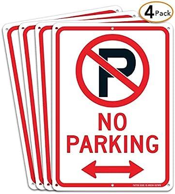 Amazon.com: Señal de aparcamiento con símbolo con flechas ...