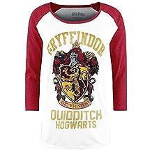 Harry Potter Women's Gryffindor Red & Raglan Long-Sleeve T-Shirt White