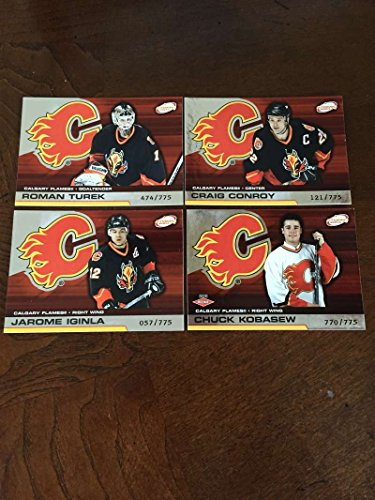 2002-03 Pacific Atomic Hobby Calgary Flames Team Set Rare 4 Cards Iginla ()