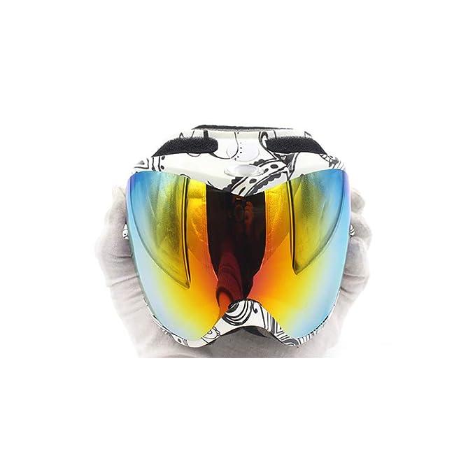 c88db644a4 LBWNB Gafas de esquí-Gafas de Snowboard a Prueba de Viento con OTG sobre  Gafas, Lente Doble, Anti-UV Anti-Niebla y Lentes Intercambiables Gafas de  Sol, ...