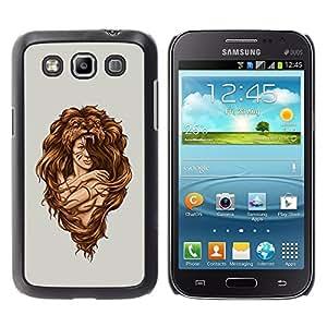YiPhone /// Prima de resorte delgada de la cubierta del caso de Shell Armor - Awesome Woman Lion Hair Style - Samsung Galaxy Win I8550 I8552 Grand Quattro