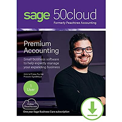 Sage 50cloud Premium Accounting 2019 1 User [PC Download]