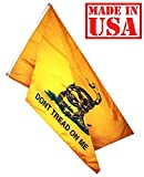 US Flag Factory 3'x5′ Gadsden Flag DON'T TREAD ON ME US STANDARD 200 DENIER SolarMac Gadsden Flag (Grommets) – Made in America