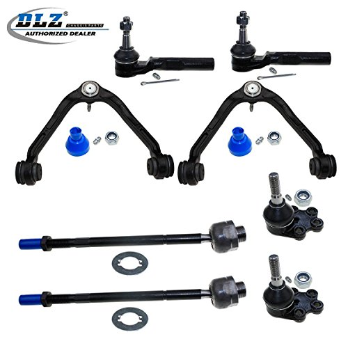 DLZ 8 Pcs Front Suspension Kit-2 Upper Control Arm & Ball Joint Assembly, 2 Lower Ball Joint, 2 Inner 2 Outer Tie Rod End for RWD/2WD 1999-2006 Chevrolet Silverado GMC Sierra 1500 (Classic)