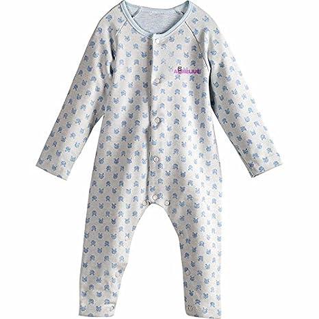 Aurelius 100% algodón recién nacido bebé polar), diseño de manga larga Jumpsuits Bodies para bebé Pelele azul claro Talla:59cm: Amazon.es: Bebé
