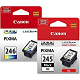 Genuine Canon PG-245 XL High Capacity Black Ink Cartridge (8278B001) + Canon CL-246