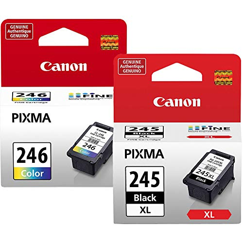 Canon PG-245 XL High Capacity Black Ink Cartridge (8278B001) + Canon CL-246 Color Ink Cartridge (8281B001) ()