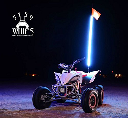 5150 Whips High Powered LED Color Changing Whip with Wireless Remote - Crazy Bright. Crazy Strong. (2 LED Whips - 2Ft) by 5150 Whips (Image #3)