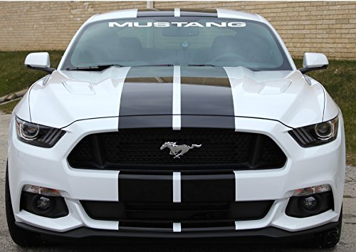 MUSTANG WINDSHIELD DECAL (40 INCH WIDE) (WHITE)