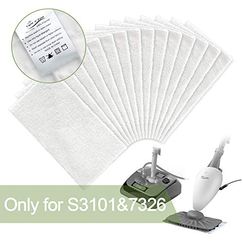 LIGHT 'N' EASY 15 Packs Disposable Steam S3101 (One time use Mop Pads), x Cleaning, I0 White
