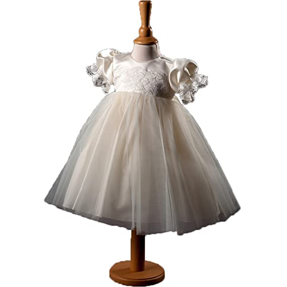 ShineGown Baby Girls Long Tulle Princess Christening Gowns Formal ...