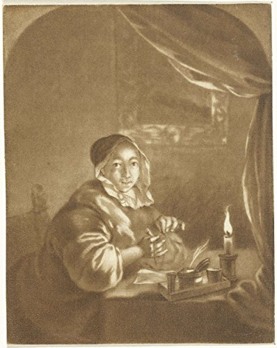 classic-art-poster-lady-candlelight-cornelis-ploos-van-amstel-1736-1798-19-x-24