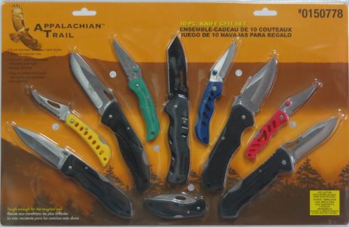 Appalachian Trail 10-pc. Folding Knife Gift Set