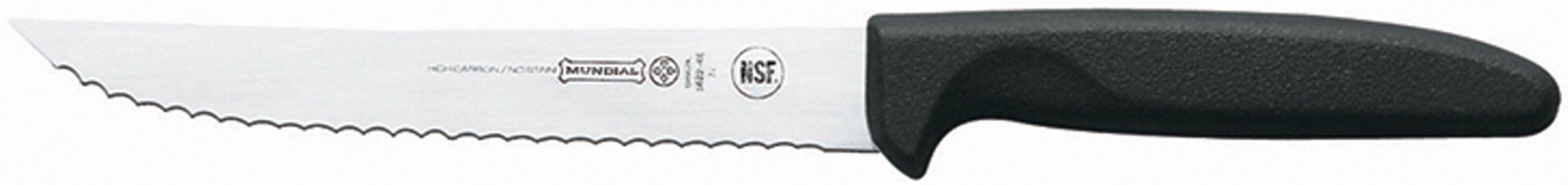 Mundial 5622-6E 6-Inch Slicing Serrated Edge Utility Knife, Black