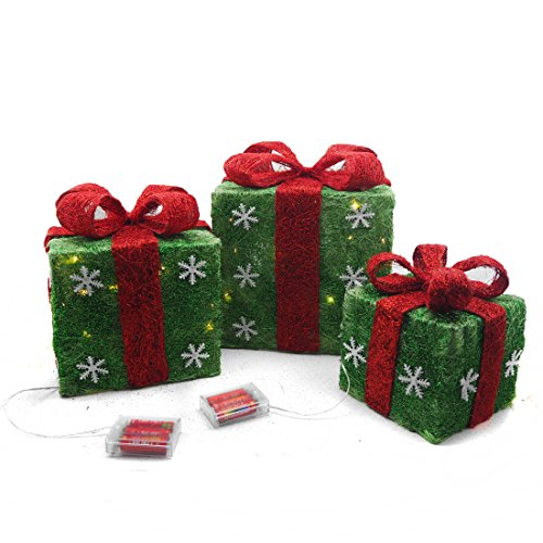 Outdoor Lighted Presents in US - 8