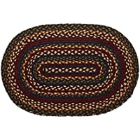 IHF Home Decor Oval Braided Area Rug 36 x 60 Inch Floor Carpet Blueberry Design Jute Material
