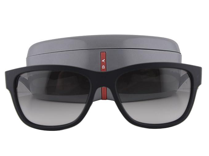 52572b4b49 Prada PS03QS - anteojos de sol (caucho negro, lente gris verde, DG0 ...