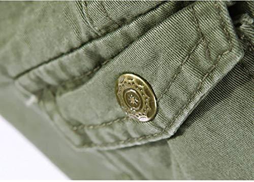 Slim Cómodos Mens Jeans Sueltos Algodón Rectos Pantalones Moda Carga Bolsillo Ssig Pantalones Dunkelgrau Multi De Fit Bolsillo De De Suaves Jeans con Multi 54Ydw6qY
