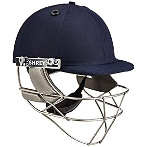 Shrey Master Class Stainless Steel Visor Cricket Helmet, Men's (Navy Blue)