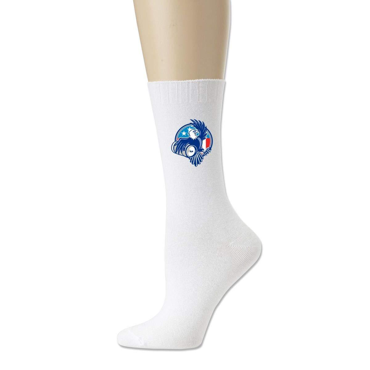 Rigg-socks American Bald Eagle Beer Keg Flag Circle Retro Mens Comfortable Sport Socks Gray